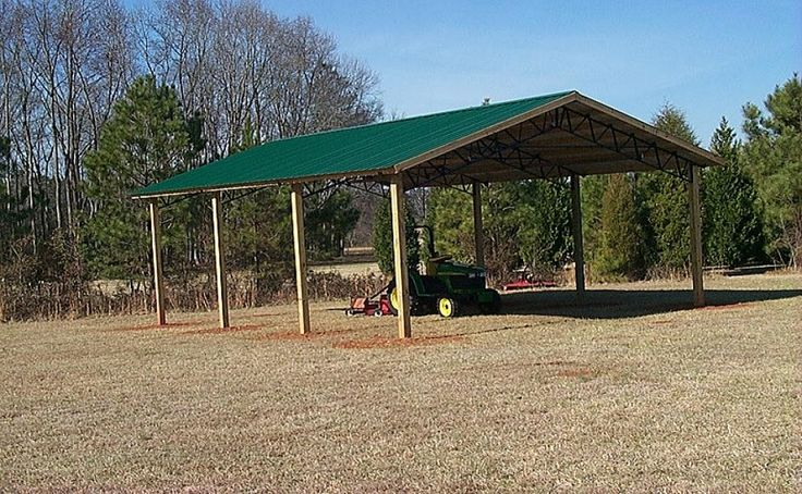 Pole barn basic roof and support structure only farm for Hay pole barns