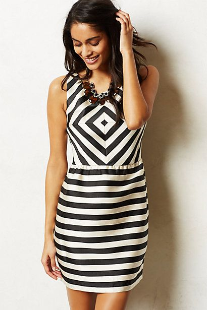 Stripemaze Dress #anthropologie