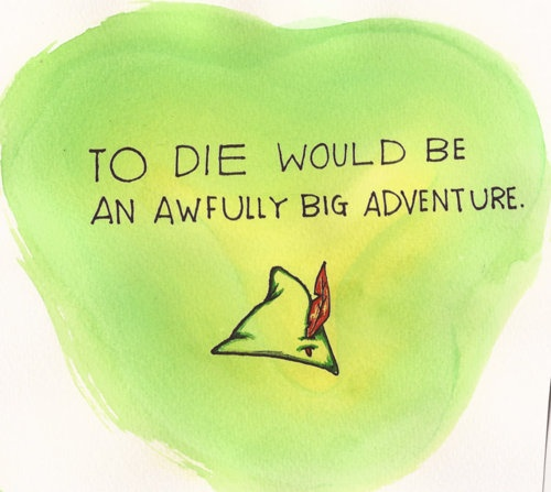 155 best images about peter pan on pinterest disney for To die would be an awfully big adventure tattoo