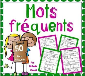 50 pages de pratique pour apprendre et réviser les mots fréquents.