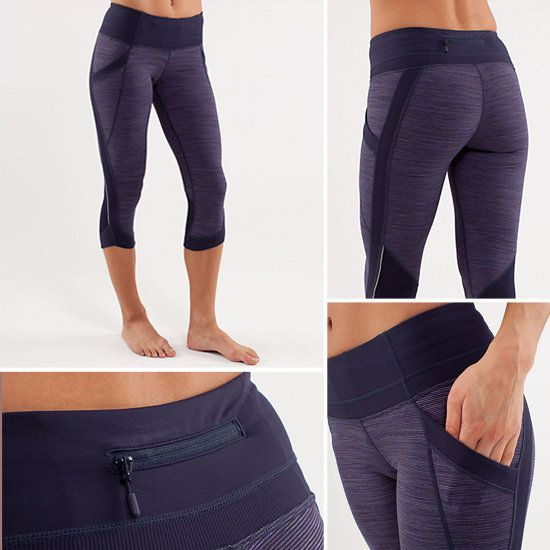 Lululemon Chase Me Crop Running Pants.