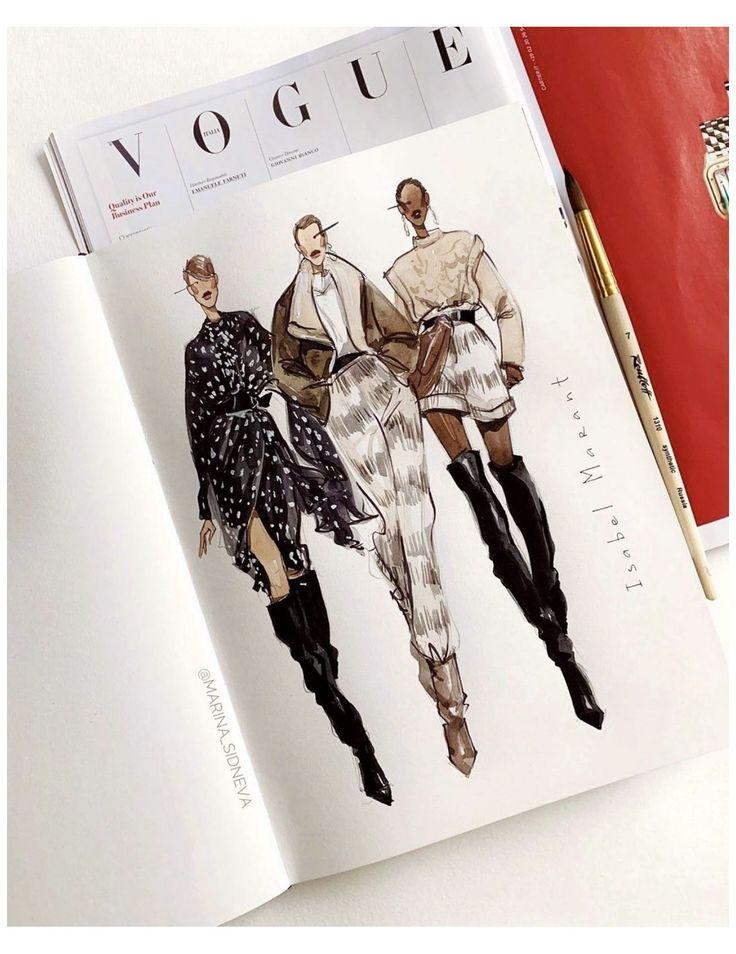 Dress Design Sketches, Fashion Design Sketchbook, Fashion Design Portfolio, Fashion Design Drawings, Art Portfolio, Art Sketchbook, Arte Fashion, Fashion Collage, Ideias Fashion