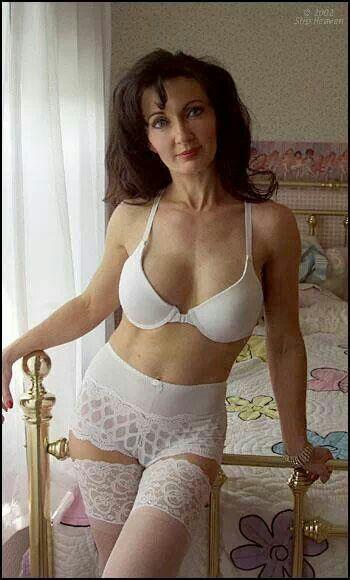mature lingerie Amateur hairy pussy