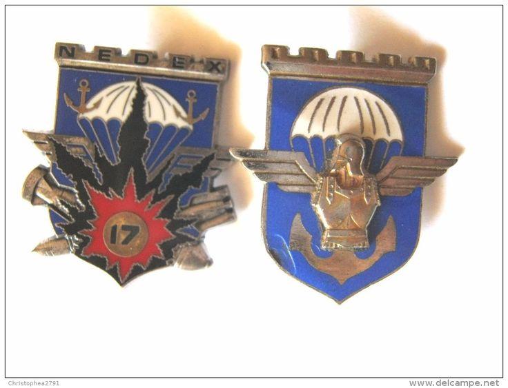 2 INSIGNES GENIE PARACHUTISTES 17° RGP DONT 1 NEDEX ETAT EXCELLENT J.BALME SAUMUR - Armée De Terre