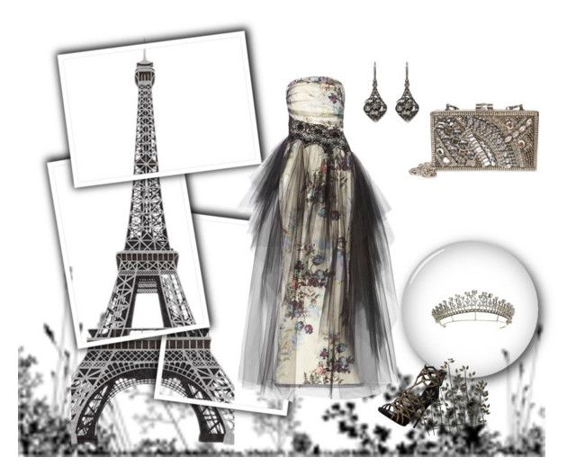 """#17"" by carmen-dana on Polyvore featuring WALL, Mary Frances Accessories, Notte by Marchesa, Giuseppe Zanotti, Universal Lighting and Decor and Alexander McQueen"