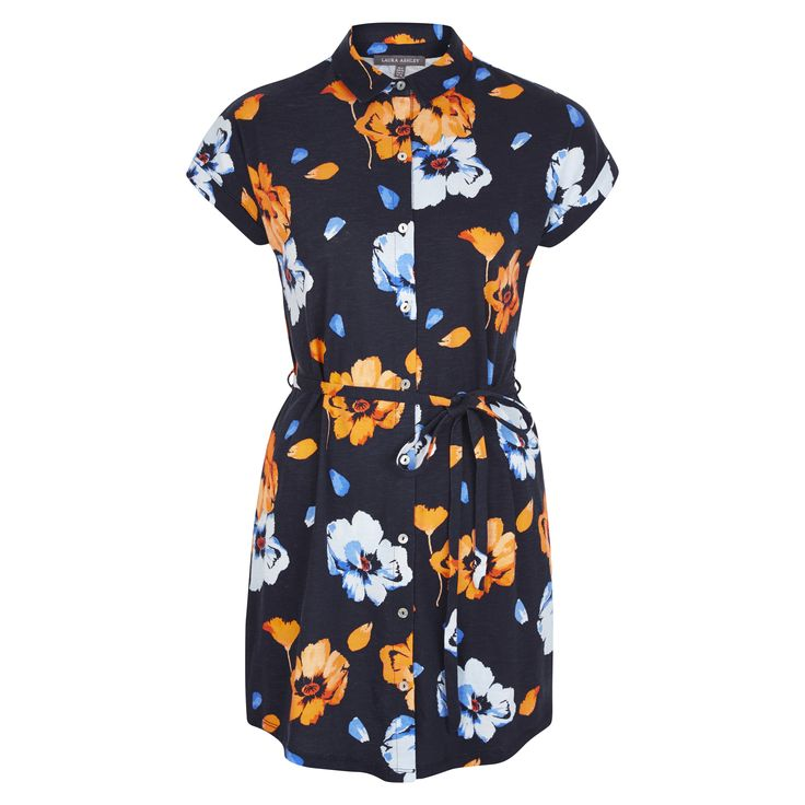 Laura Ashley Poppy Floral Print Shirt Tunic #FloralBurst