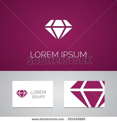 diamond logo template icon design elements with business card