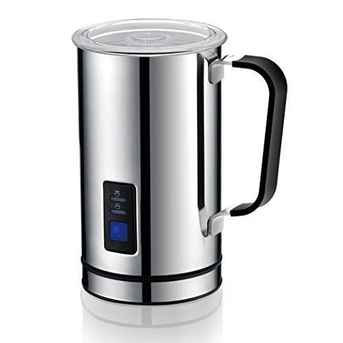 Electric Milk Frother Jug Automatic Hot Cold Warmer Cappuccino Latte Machine
