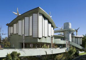 Los Angeles County Museum of Art, Pavillion for Japanese Art. Designed by Bruce Goff and Bart Prince. Completed 1988