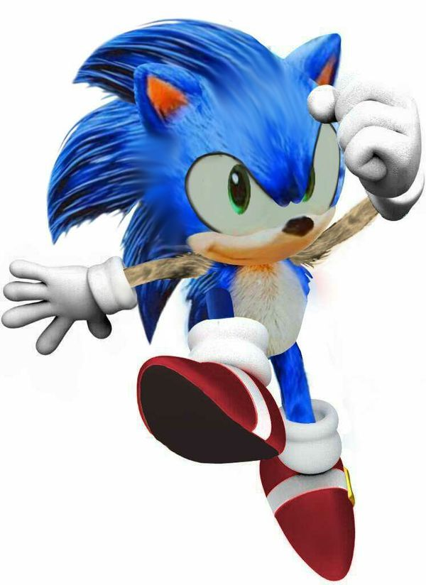 Classic Sonic Movie Version By Izayah Carter Classic Sonic Sonic Sonic The Hedgehog