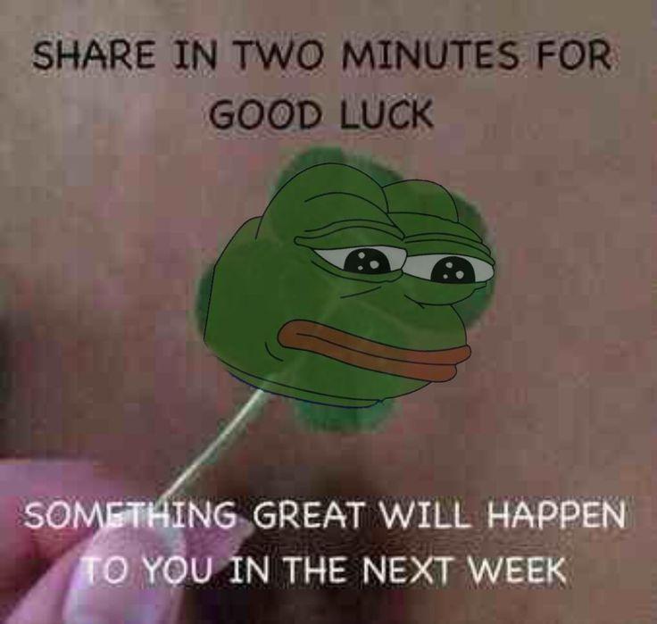 the good luck pepe