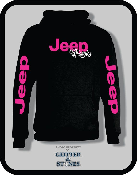 Jeep Glitter Hoodie by GlitternStones on Etsy