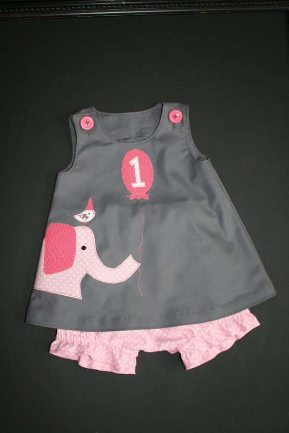Ellie and Friend Birthday Circus Dress and Bloomer