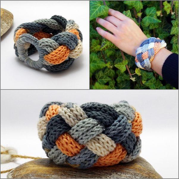 #kötött #fonott #karkötő #pasztell színben / #knitted #braided #bracelet in #pastel colors