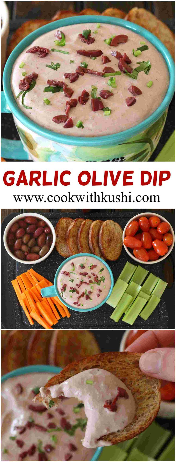 Garlic Olive Dip is super easy to make creamy and addictive dip that is perfect for entertaining guests this spring season.  #ad, #OlivePearlsEaster #Pearlsolives, #appetizer #dip  #Easter #GlutenFreeRecipes# Holiday #kalamataolives #lunch #dinner #spread #spring @pearlsolives