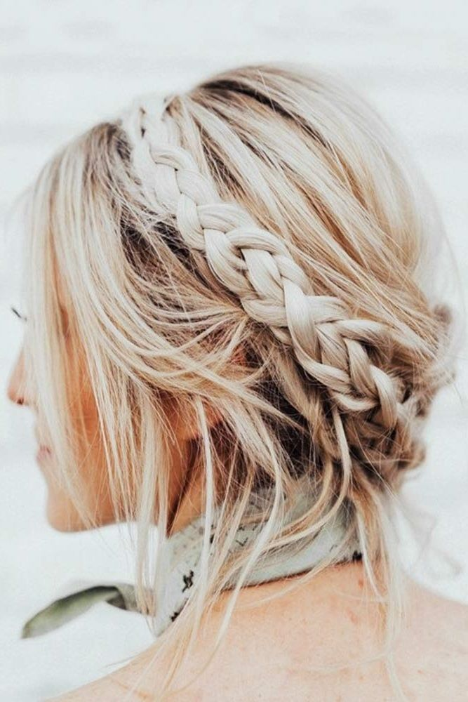Updos For Short Hair That Will Impress With Their Elegance And Simplicity Short Hair Updo Braided Crown Hairstyles Braids For Short Hair