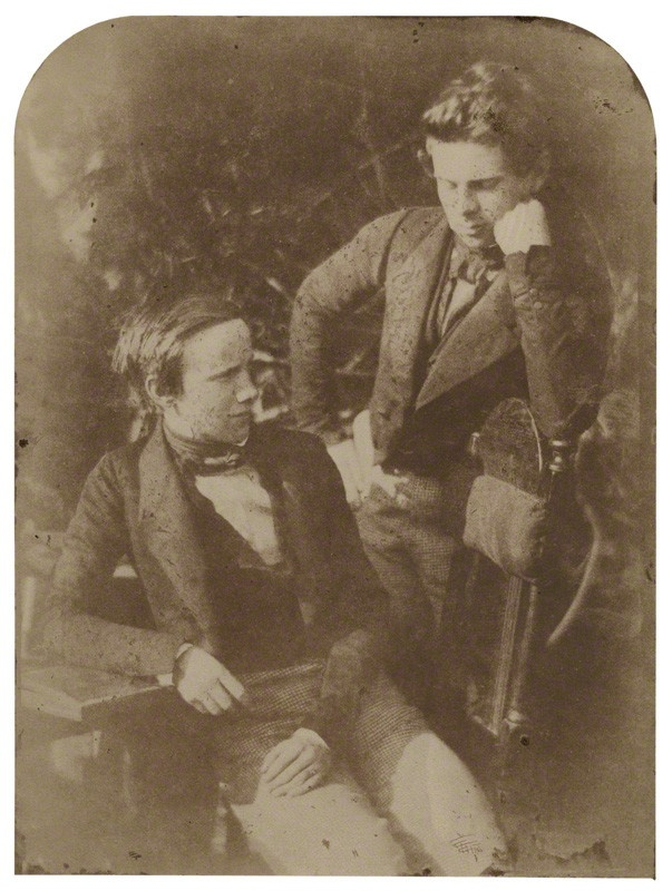 George Drysdale; Charles Robert Drysdale  by David Octavius Hill, and Robert Adamson  calotype, arched top, 1840s http://www.npg.org.uk/collections/search/portrait/mw163014/George-Drysdale-Charles-Robert-Drysdale?LinkID=mp11619=art=60=3=229