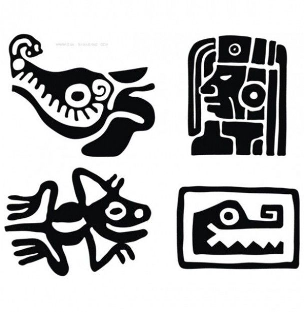 creative mayan traditional design vector