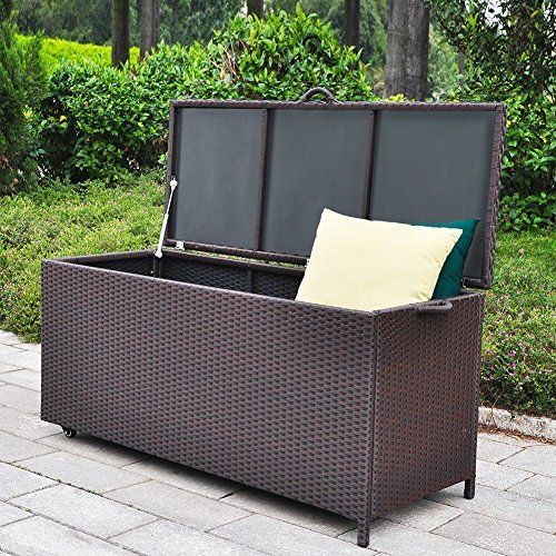 http://picxania.com/wp-content/uploads/2017/08/outdoor-patio-wicker-storage-container-deck-box-made-of-antirust-aluminum-frames-and-resin-rattan-86-gallon-brown.jpg - http://picxania.com/outdoor-patio-wicker-storage-container-deck-box-made-of-antirust-aluminum-frames-and-resin-rattan-86-gallon-brown/ - Outdoor Patio Wicker Storage Container Deck Box made of Antirust Aluminum Frames and Resin Rattan, 86-Gallon (Brown) -   Price:    Babylon storage deck box, hand woven UV resis