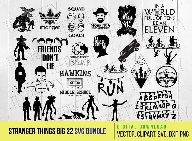 Stranger Things 22 SVG Bundle Stranger things, Cricut