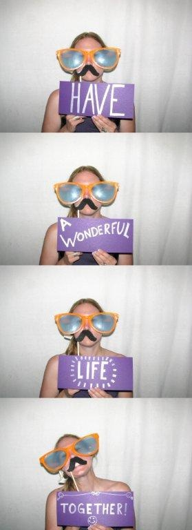 Creative! Leaving a message for the bride and groom via photo booth