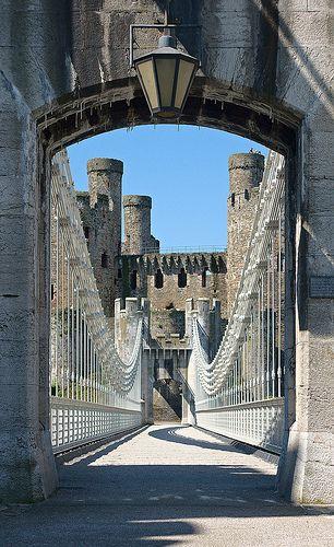 Bridge to Conwy Castle, Wales, UK