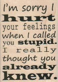 Quote Rubber stamp I'm Sorry I Hurt scrapbook supplies no 18712 | pinkflamingo61 - Craft Supplies on ArtFire