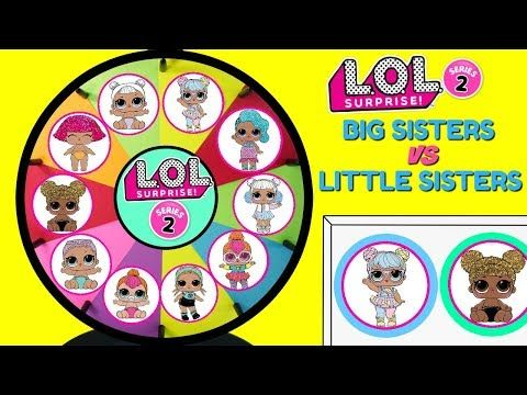 LOL Surprise BIG SISTERS VS LITTLE SISTERS The Hunt For Bon Bon Spinning Wheel Game Toy Surprises - YouTube