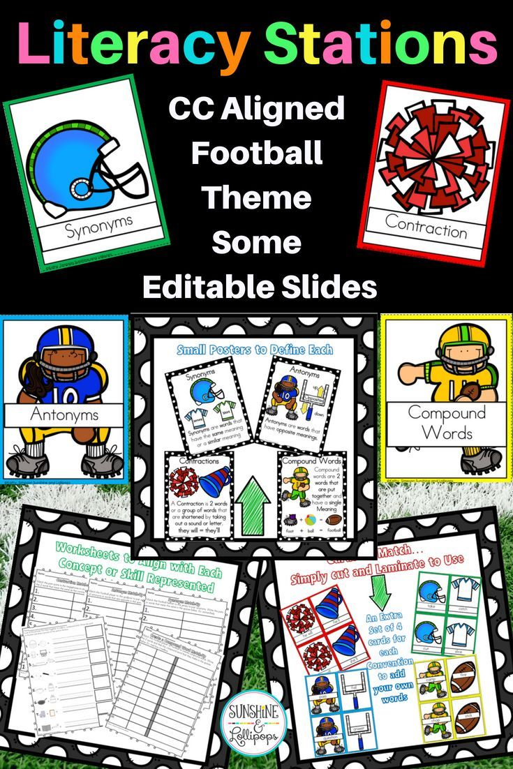 ELA Stations Compound Words, Synonyms,Antonyms, Contractions ...