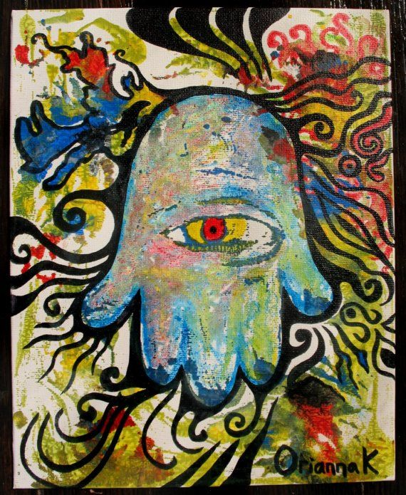 Intuitive Outsider Art UNDER YOUR HAT Acrylic Collage Pastel Pencil On Board X Cm This Painting Is Not Framed