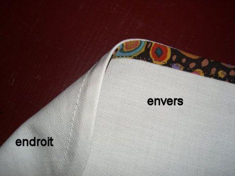 Comment poser un biais qui n'aparaisse qu'à l'intérieur du vêtement