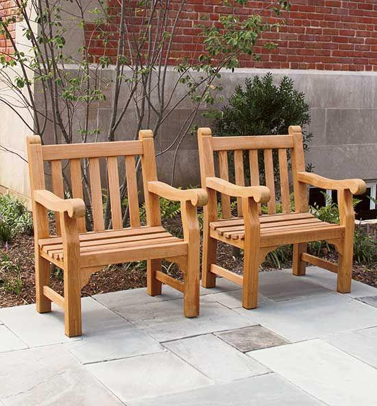 Enjoyable Teak Bench Armchairs In 2019 Garden Bench Plans Bench Creativecarmelina Interior Chair Design Creativecarmelinacom