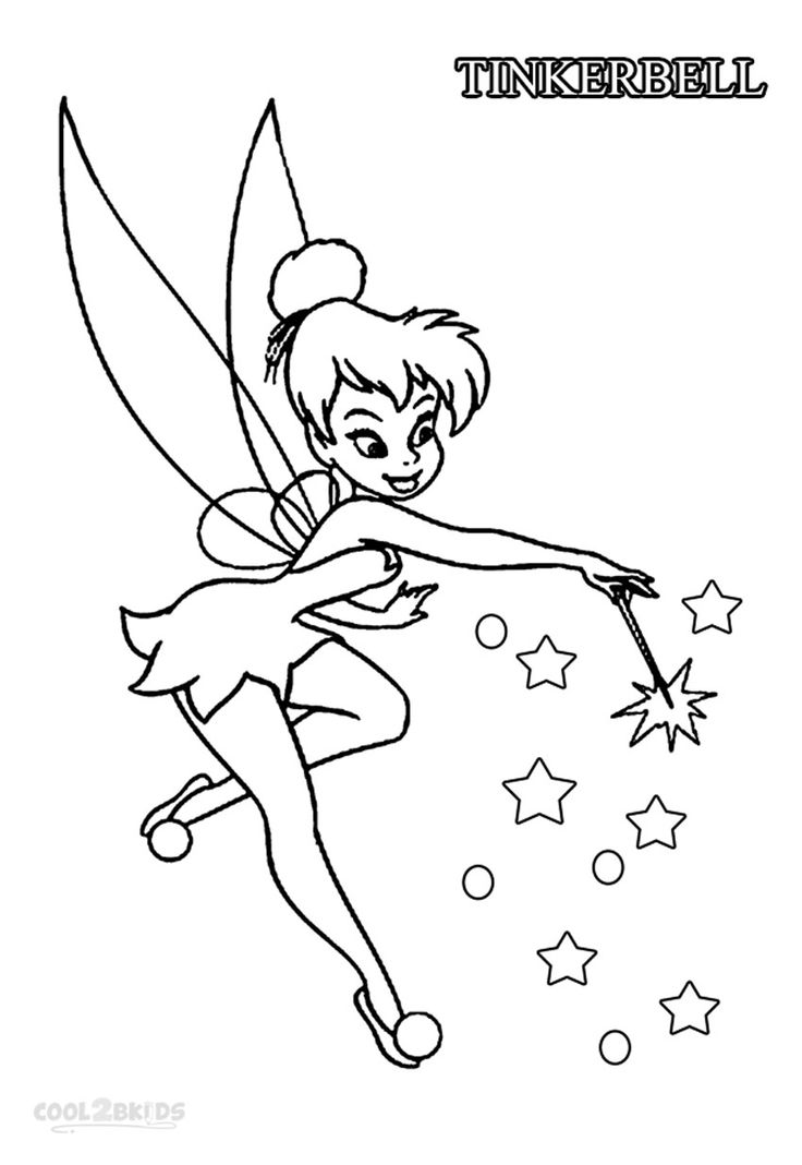 Disney Tinkerbell Coloring Book Coloring Pages