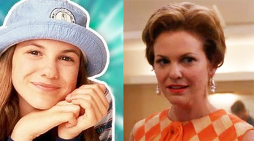 MAD MEN: Cosgrove's fiancee Cynthia Baxter = actress Larisa Oleynik, aka the titular character from Nickelodeon's The Secret World Of Alex Mack!- I would have never known