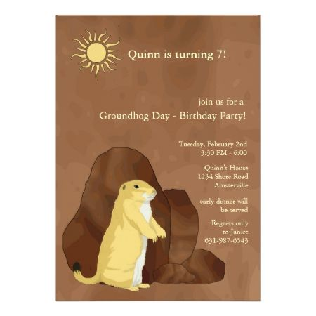 Groundhog Day Birthday Party Invitation - click to get yours right now!