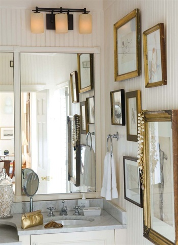 situate our stowe bathroom vanity lighting above the mirror to properly illuminate bathroom tasks and