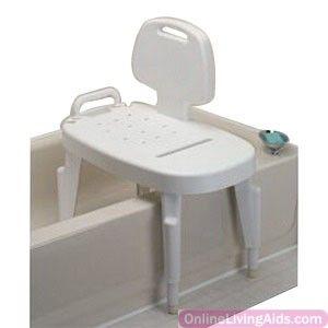 Maddak - 727142501 - Bath Safe Adj Transfer Bench, Brown Box