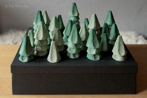 Adventskalender aus Eierkartons - eine D.I.Y.- und Upcycling-Idee für Weihnachten.