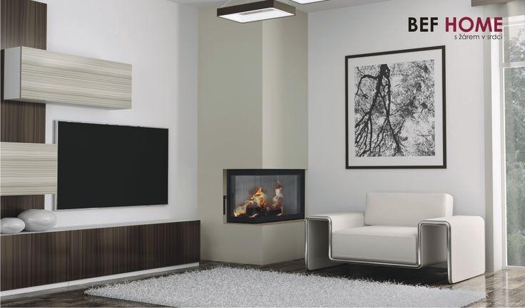 Fireplace, Krbová vložka BeF Aquatic WH 80 CP Díky ohništi vyloženému akumulační výstelkou, Carconem, který byl vyvinut speciálně pro naši firmu, je dosaženo vysoké čistoty a účinnosti spalování a příjemného pohledu do ohně. Tělo krbové vložky je pokryto izolací a vložka má dvojité prosklení již ve standardu. I díky tomu je dosaženo maximální efektivity tepla předaného do výměníku.