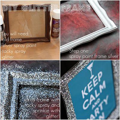 DIY Glitter Frame: Bathroom Design, Decor Ideas, Glitter Pictures, Crafts Ideas, Diy Frames Crafts, Glitter Frames, Domestic Charms, Diy Glitter, Pictures Frames