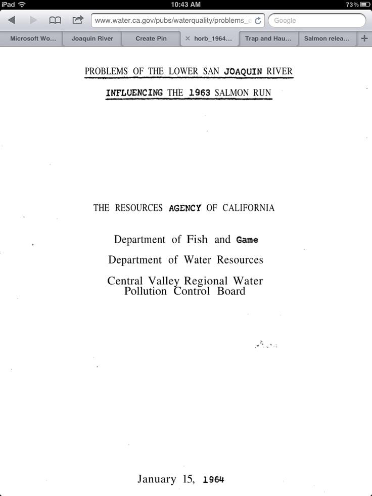 35 best San Joaquin River images on Pinterest Salmon, The sans - problem report