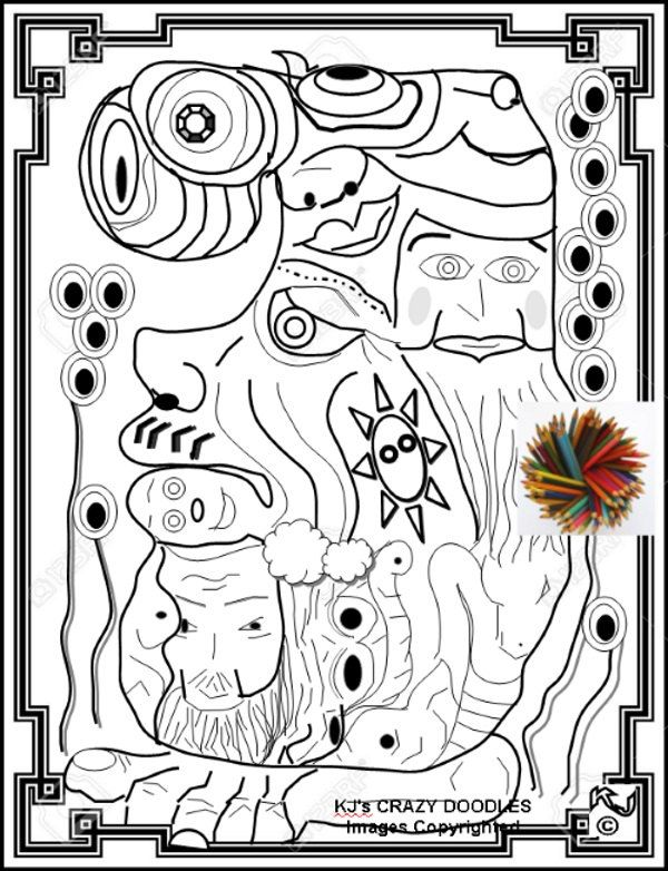 Psychedelic Coloring Pages For Adults