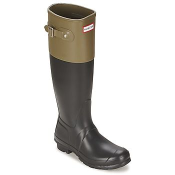 Very classy two-tone Hunter Wellingtons, free delivery @spartouk ! #shoes #boots #wellies #wellingtonboots #fallfashion #backtoschool