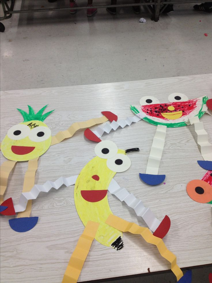 * Making paper Fruit puppets!