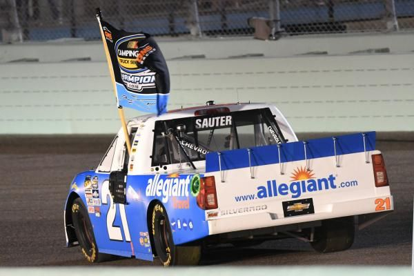 Johnny Sauter claims Trucks title; William Byron wins race