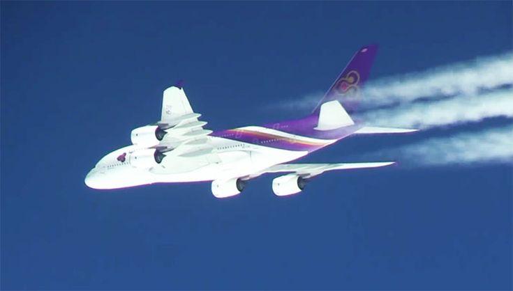 【奇跡】ANAお別れフライト中に「タイ国際航空A380」がサプライズ登場 / 世界中から絶賛の声「幻想的だ素晴らしい」