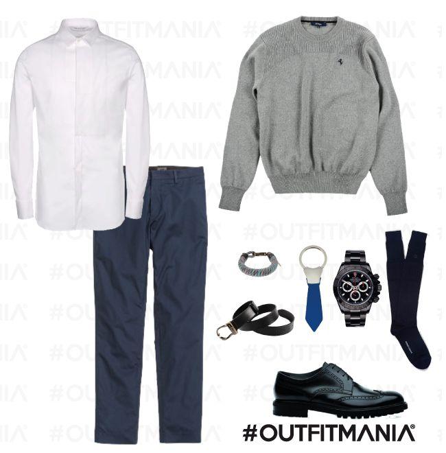"""First date   Simmetrie classiche e accessori poco vistosi saranno le armi vincenti per un appuntamento """"da sogno""""...   #outfitmania #outfit #style #fashion #dresscode #amazing #shoes #cinture #rolex #ferrari #party #gorgeous #parties #H&M #moreschi #man #event #whiteshirt   CLICCA SULLA FOTO PER SCOPRIRE L'OUTFIT E COME ACQUISTARLO"""