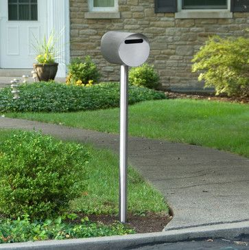 Silverdale Stainless Steel Mailbox and Post Set - Brushed Stainless Steel contemporary-mailboxes