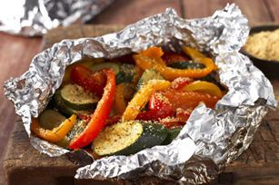 Serve these hearty grilled veggies with your favorite dishes. Best of all, foil packets seal in flavors and make cleanup a breeze.