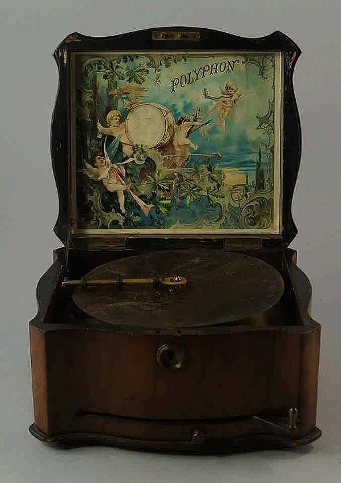 A Polyphon walnut cased music box, late 19th centu - by Roseberys